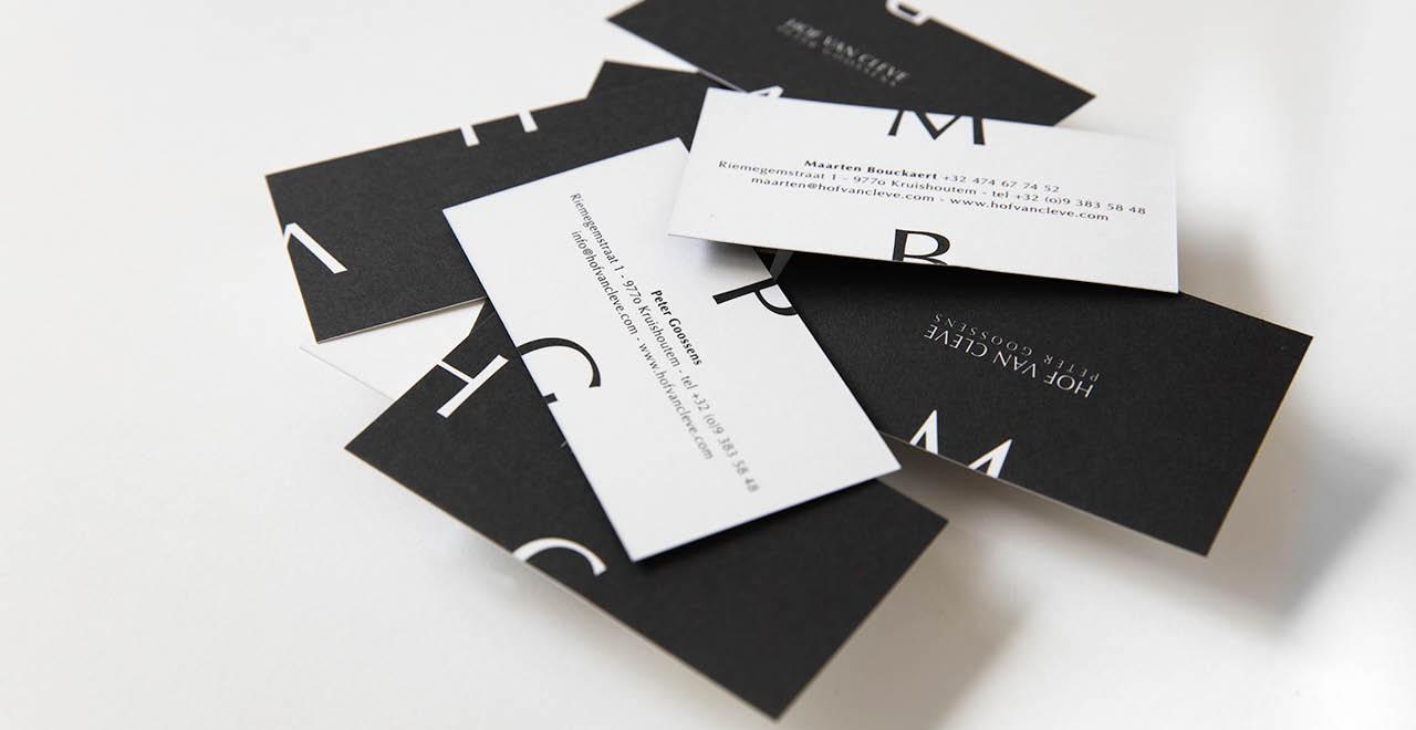 Brand identity for three star restaurant Hof Van Cleve