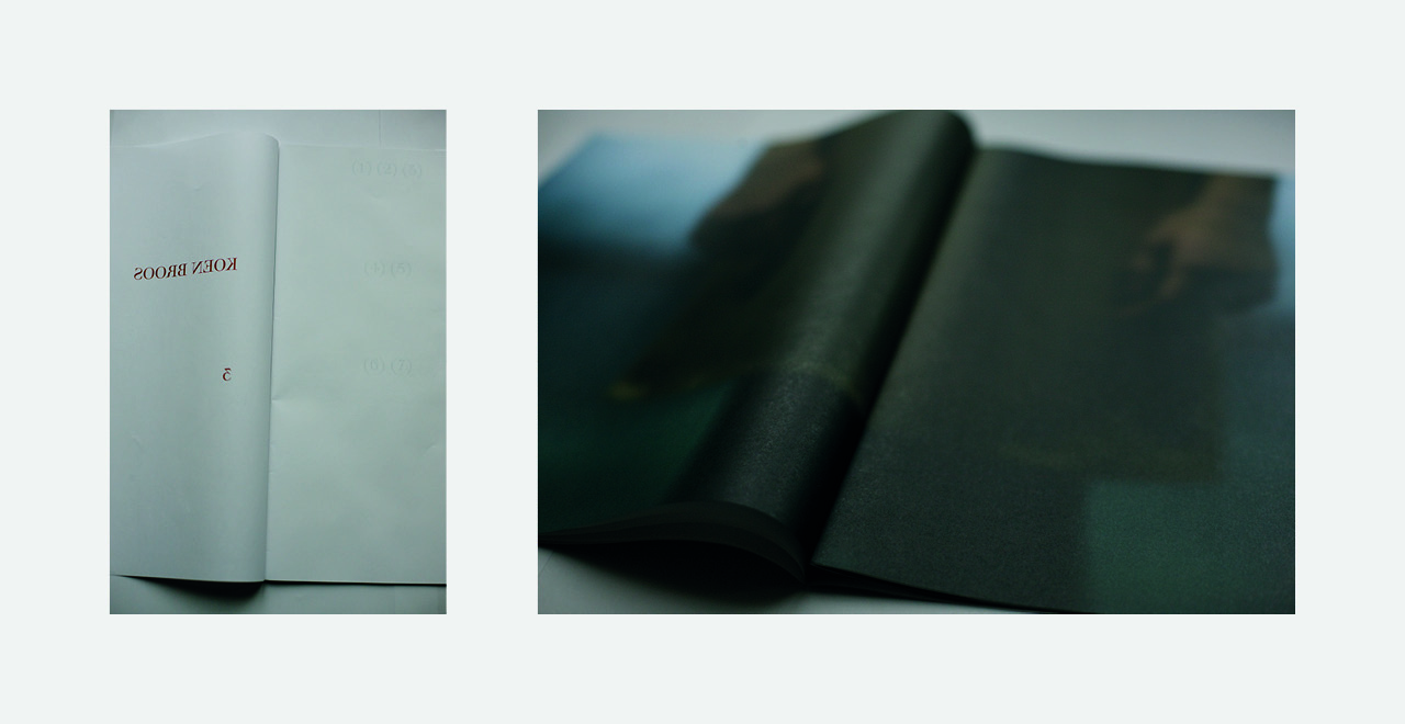 Awarded book design on lightweight paper for artist / photographer Koen Broos.