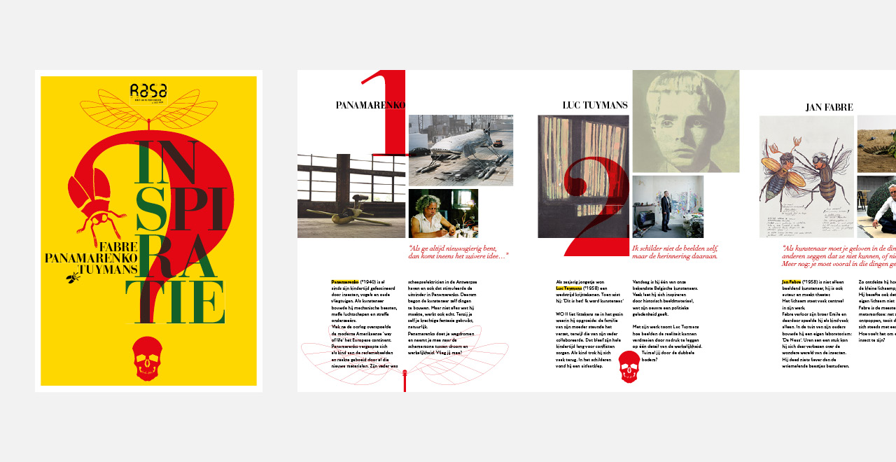 Campaign design and brochure 'Inspiratie' an exhibition by Rasa