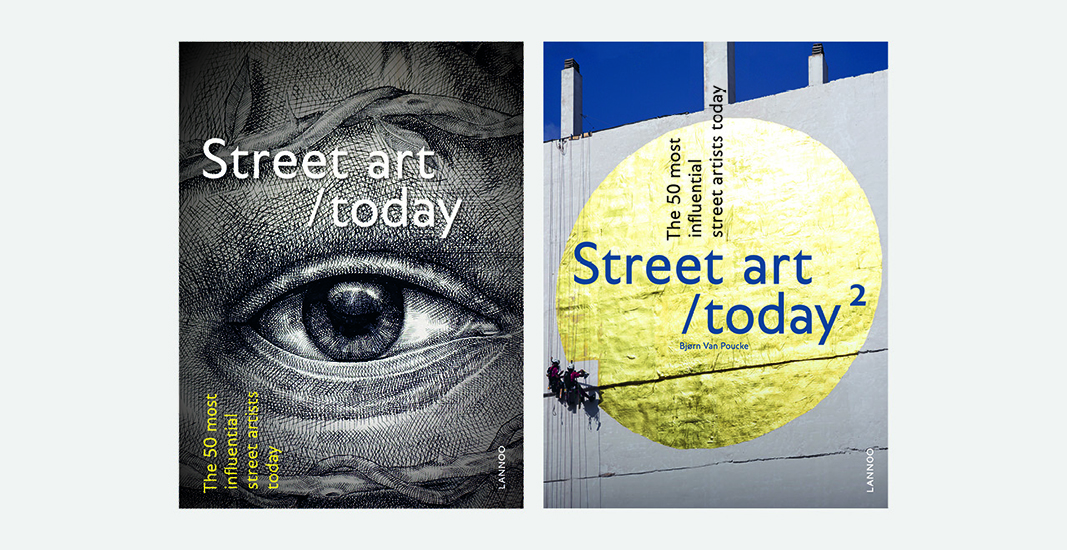 Book design 'Street Art Today', a contemporary overview of the most influential street artists and their work.