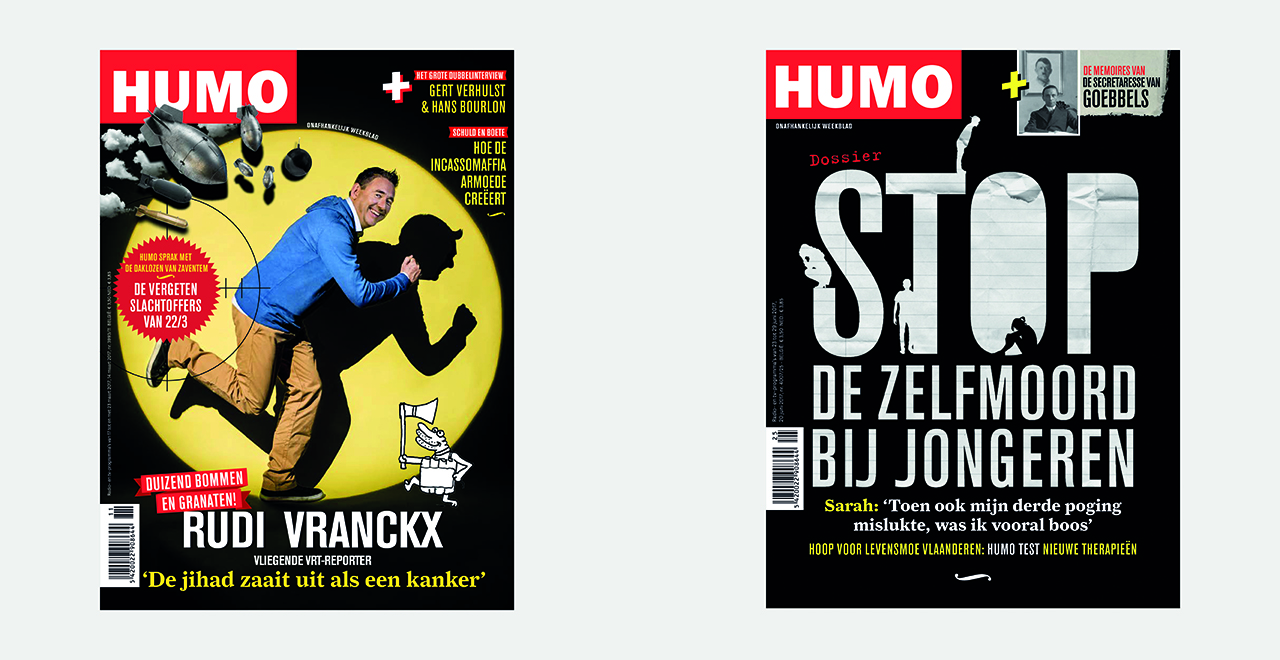 Weekly cover design and art direction for HUMO