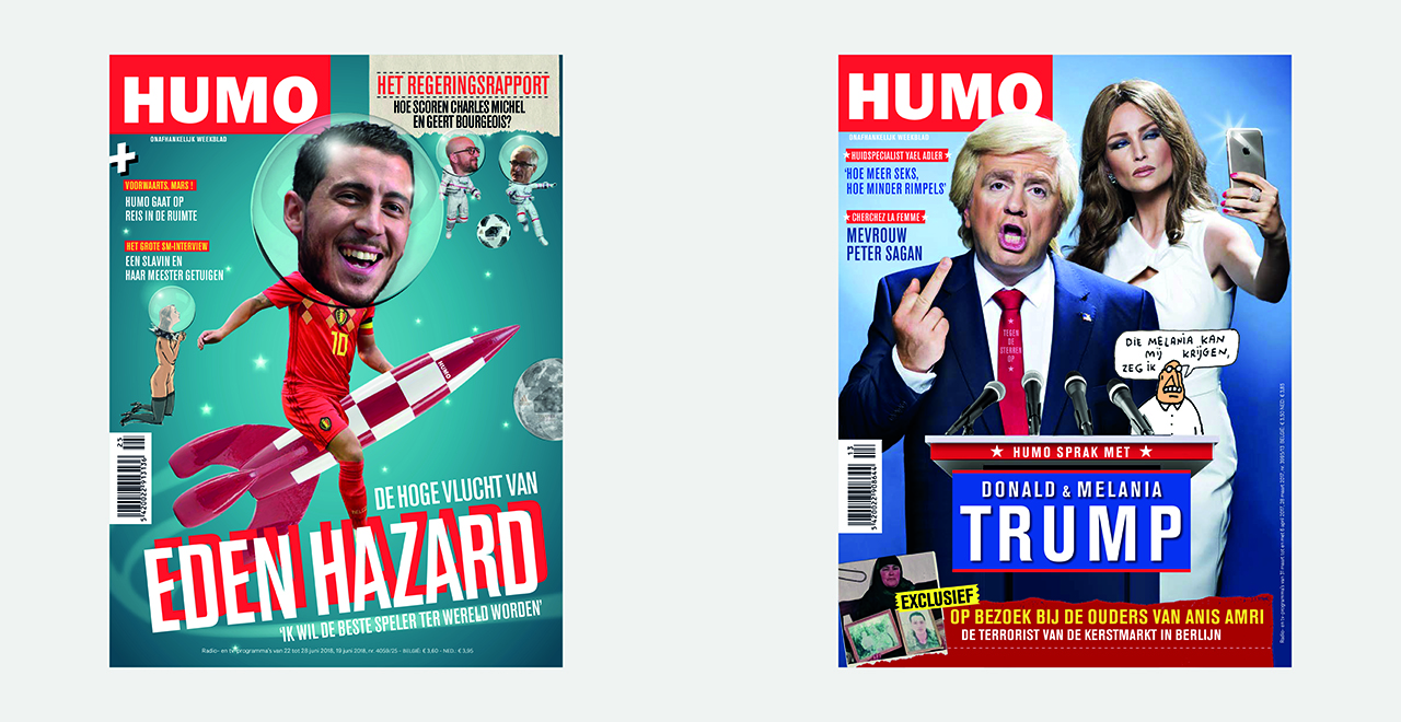 Weekly cover design for HUMO